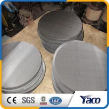 Disque filtrant en acier inoxydable, écran rond en acier inoxydable de 50 microns