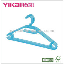 hot selling crystal PS plastic hanger with racks for tie and nothes for strap