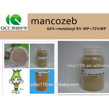 agrochemical/fungicide/agriculture chemical mancozeb64%+metalaxyl 8% WP=72%WP