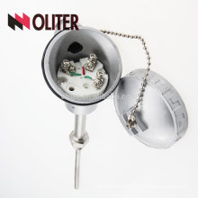OLITER WZP pt100 rtd thermal resistance with ss304 stainless steel probe and waterproof connection box ntc temperature sensor