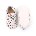 Special Black Dots Oxford Suede Leather Infant Shoes