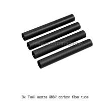 Tubos de fibra de carbono de tamanhos diferentes