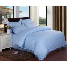 Satin Strip Hotel Cotton Bedding Linen with Comforter Set (WS-2016177)