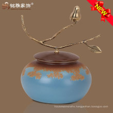 colorful home accessories onglazed ceramic vase for furnituring decoration