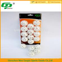 golf accessorie,white hollow plastice golf ball