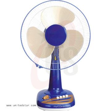 Bom Design 12/16 polegadas 3 PP Blade Tabela ventilador azul cor