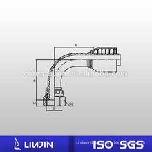 90 Ellenbogen Metrisches Innengewinde Einteiliger, nicht schneidender Hydraulikschlauchanschluss (20191-RW)