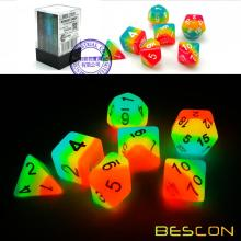 Bescon+Fantasy+Rainbow+Glowing+Polyhedral+Dice+7pcs+Set+MIDNIGHT+CANDY%2C+Luminous+RPG+Dice+Set+Glow+in+Dark%2CNovelty+DND+Game+Dice