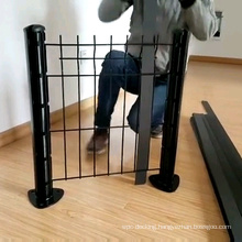 Galvanized Grid WPC lattice fence Occultation wpc kit lamelle rigid panels for 2.5m metal frame better than pvc fence