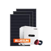 Bluesun Solar 20kva sun power solar panel system on grid without use battery