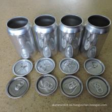 206 RPT Tapas SOT Aluminio de 57mm Extremo abierto fácil