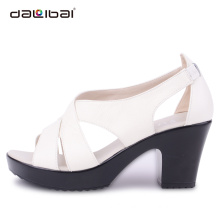 Stacked Heel Top Fashion Europe and US Styles 2015 women high heel Shoes new designs