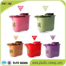 Spin Plastic Wheelie Mop Bucket with Factory Price