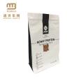 Bolsas de empaquetado del polvo de la proteína del suero de la parte inferior plana plástica del papel de aluminio del certificado 500g 1kg de la FDA con el Ziplock