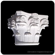 Hand carved natural stone pillar corinthian marble column cap