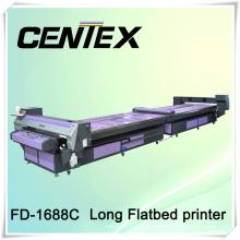 Impresora plana larga de Fd-1688c para la impresión de las piezas de la camiseta