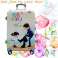 Bolsa de equipaje para niños con impresión de dibujos animados