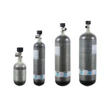 Air Tank Composite Gas Cylinder Wrapped Carbon Fiber 3L 6.8L 9L Composite Material High