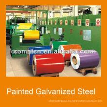 Bobinas de acero galvanizado pre-pintado