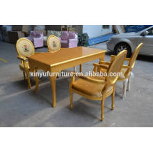 gold color wedding chairs and tables XYN326