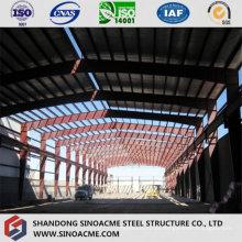 Workshop de estrutura de aço pesado com guindaste