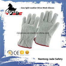 Cow Split Personal Industrial Safety Drivers Leather Work Hand Glove