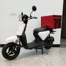 Scooter de entrega de comida rápida con bolsa de entrega de bicicletas