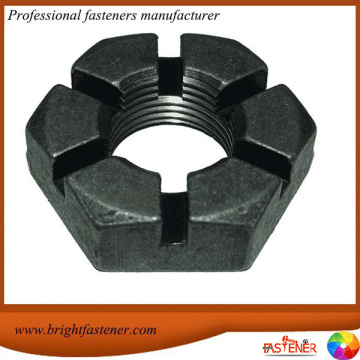 High Quantity DIN935 Hex Slotted Nuts