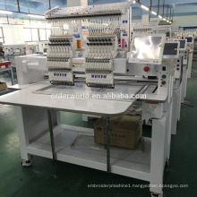 Two head 9/12/15 needles germany belts embroidery machine for flat cap t-shirt embroidery machine price