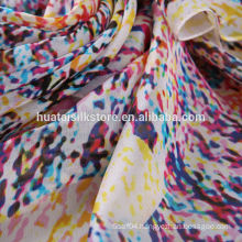Fashion design digital printing of silk fabric