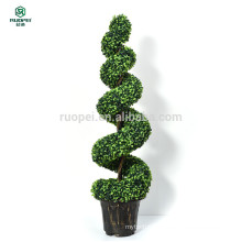 Spiral artificial Large Potted Topiary Tree Artificial Plant