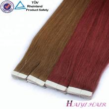 La venta caliente cutícula alineó la extensión privada del pelo de la cinta de la etiqueta privada 7A del pelo brasileño de la Virgen