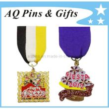 Fábrica de Metal Lapel Pin Badge com Ribbon Pin (badge-038)