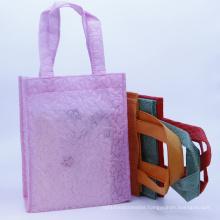 Big Reusable PP Pla Non-Woven Tote Bag Customized Laminated Metallic Non Woven Bag for T-shirt Garment Dress