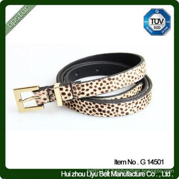 Cinturão de couro real mais novo de 2014 para mulheres em padrão de leopardo