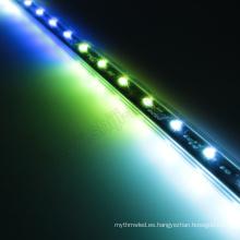 Iluminación en cascada 3D DC12V 60LEDs / m 10pixels / m 3D Vertical RGB LED tubo de luz LED