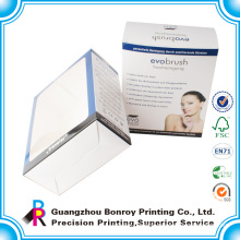 Custom cellophane window gift paper box with clear lid