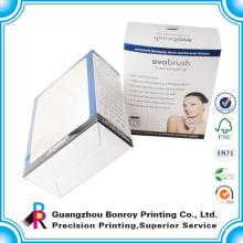 Caixa de papel de presente de janela de celofane personalizado com tampa transparente