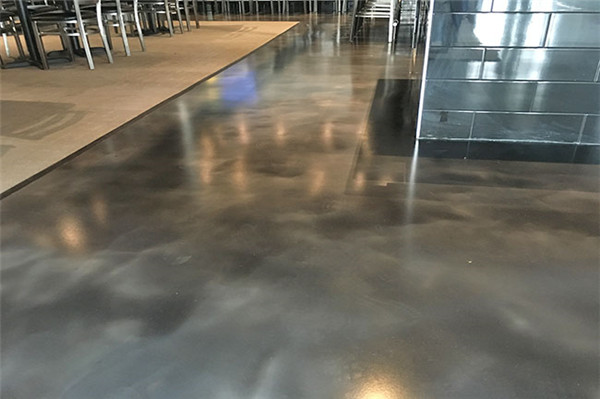 Concrete art floor for decoration