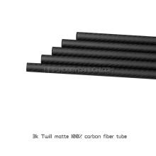 tubos novos da fibra do carbono da chegada 25x23x180mm para quadros do fpv