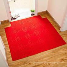 Velour needle felt carpet rolls with jacquard