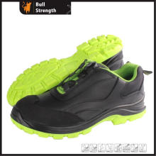 Sport Style Smooth Leather Safety Shoe with Turn Buckle (SN5430)
