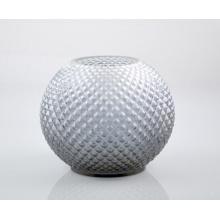 Suporte de vela de vidro com design redondo