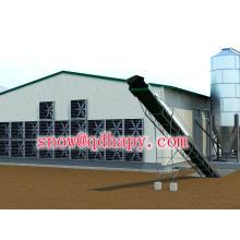 Équipement de hangar de contrôle de volaille pour la couche et l'éleveur de poulets de chair avec l'unité d'alimentation et d'alimentation