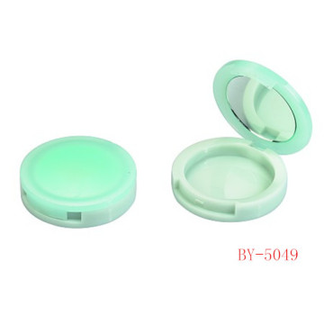 Vivid Green Compact Powder Container con espejo
