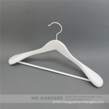 Hh Brand White Wooden Top Hanger for Clothes Suit Coat for Closet