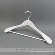 HH marca branco gancho superior de madeira para roupa terno casaco para armário