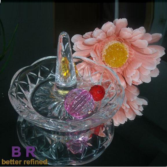 Crystal Glass Ring Holder