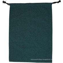 Eco friendly reusable custom muslin linen drawstring bag custom logo