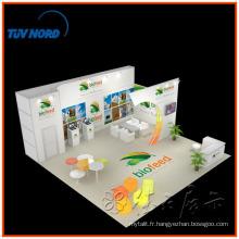 Système acrylique de salon commercial avec le support et l'étape de TV à Changhaï Chine